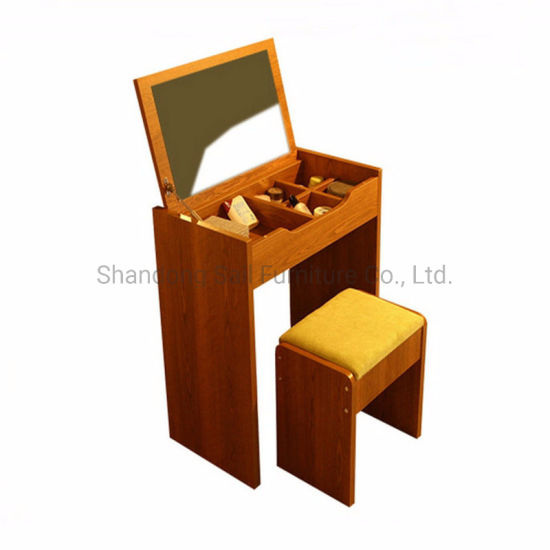 Small Size Wood Makeup Dresser with Mirror