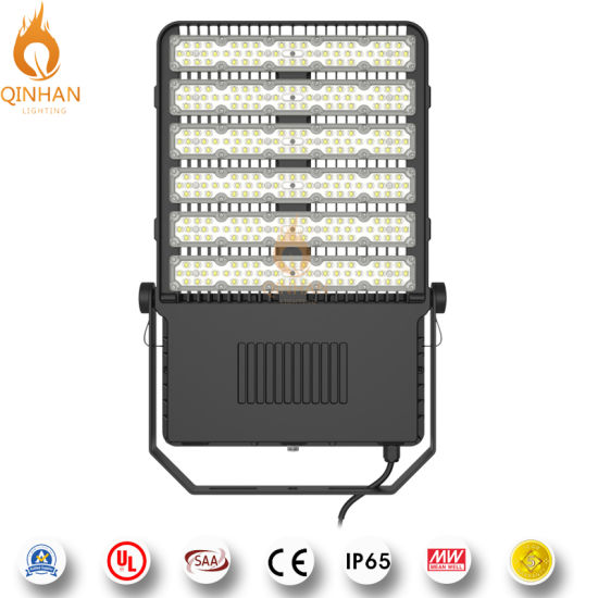150lm/W Waterproof IP65 300W High Power Flood LED Light for Outdoor Square Garden Yard Tunnel Industrial Park Golf Course Sport Court Lighting