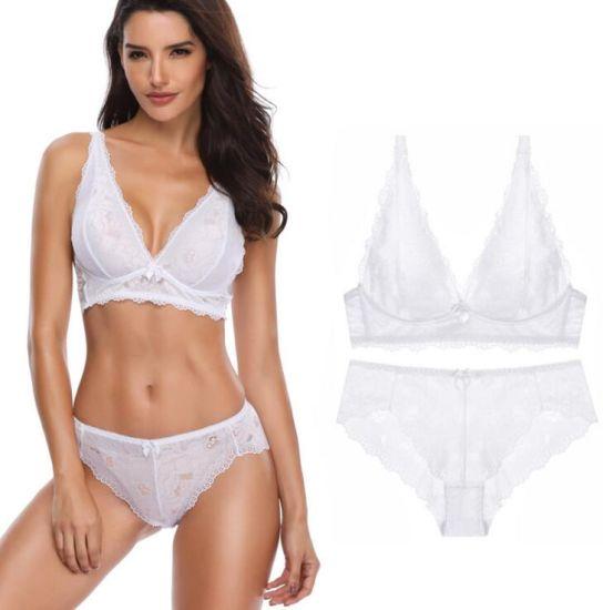 587afef156ed China Lace Fancy Lace Women Sexy Wireless Bra Underwear Set - China ...