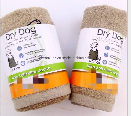 Bamboo Fiber Pet Cleaning and Drrer Cloth Towels pictures & photos