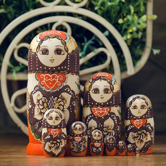 Matryoshhka Doll Plastic Customized Set Doll (Russian set doll) pictures & photos