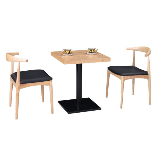 Modern Solid Wood Cafe Restaurant Tables Furniture and Restaurant Chairs