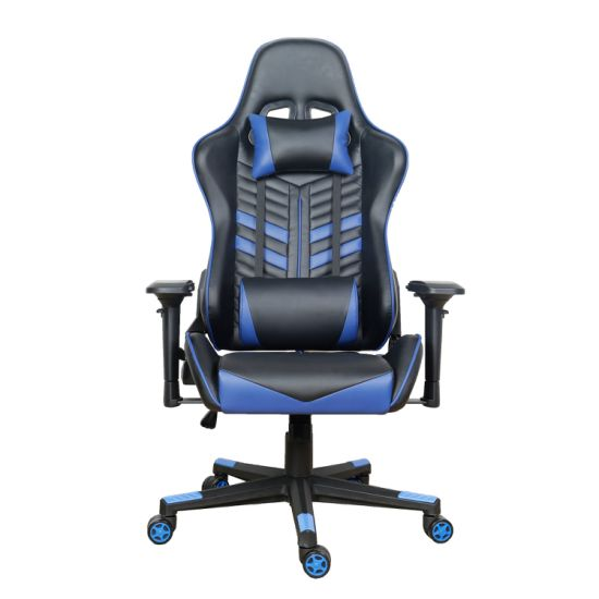 Gaming Chair Racer Sport with Lumbar Support Furniture Black Gamer Chair Blue