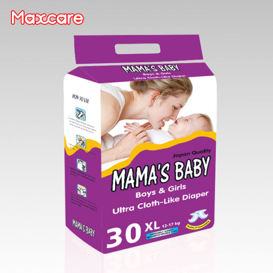 OEM Customized Cotton Waistband Disposable Baby Diaper