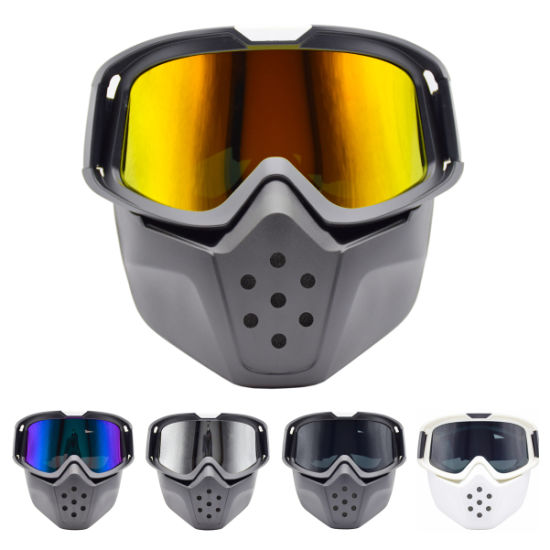 Unisex Full Face Military Tactial Gun CS War Game Mask Cycling Ski Safety Goggle with Mask