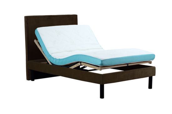Eco-Friendly Electric Bed Adjustable Bed Slat Bed with Memmory Foam Mattress pictures & photos