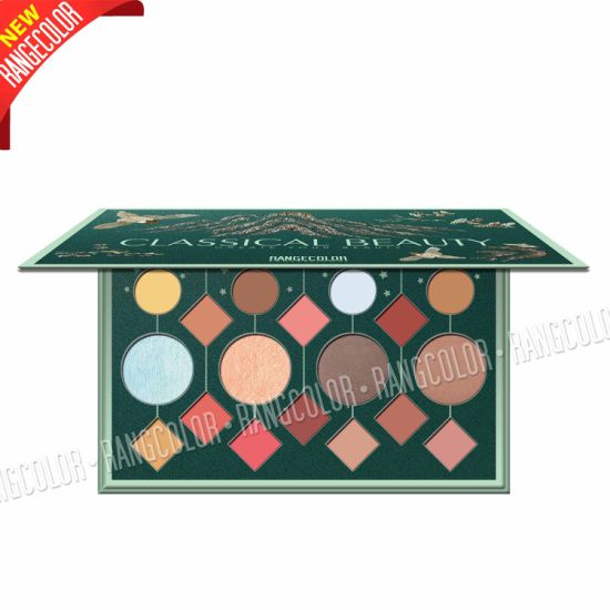 Professional Cosmetic Manufacturer 18 Color Customized Cardboard Eyeshadow Contour Makeup Palette