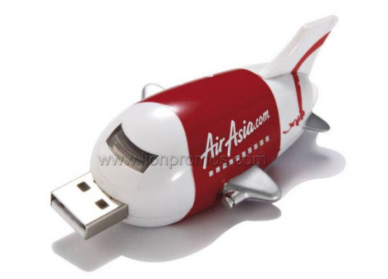 Plastic Plane Shape Airline Promotional Gift USB Flash Disk pictures & photos