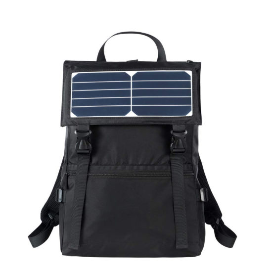 Sport Hiking Waterproof Backpack with Solar Charger & Battery Pack for Smart Phones
