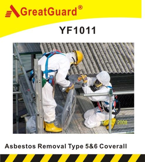 Asbesto Removal Type 5&6 PE Laminated Microporous Coverall (CVA1011)