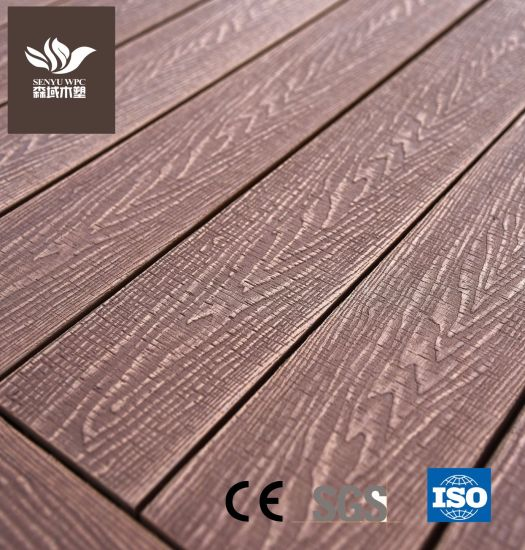 Building Material Stable and Durable Outdoor Capped WPC Composite Decking Board