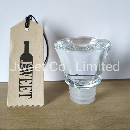 Bottle Cap Glass Bottle Stopper for Wine Vodka Spirit