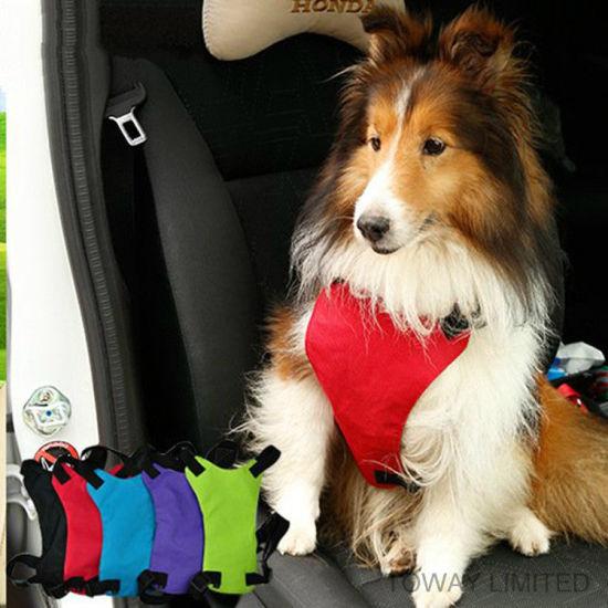 Design Dog Lead Car Seat safety Mesh Pet Harness Belt