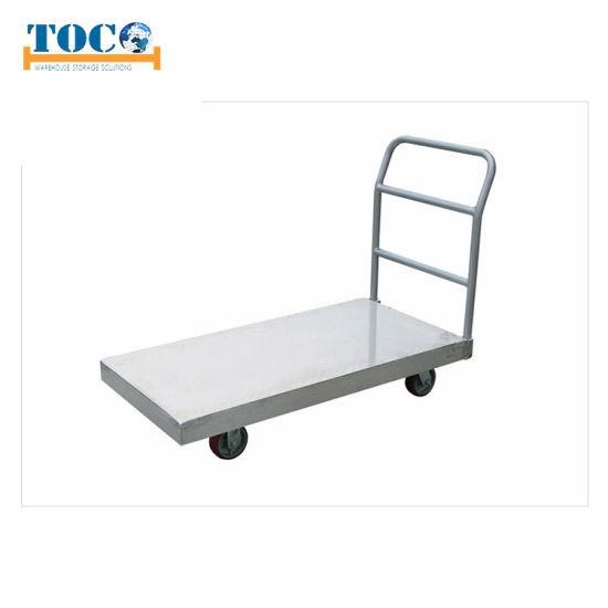 Easy Transport Platform Trolley Plastic and Metal for Warehouse pictures & photos