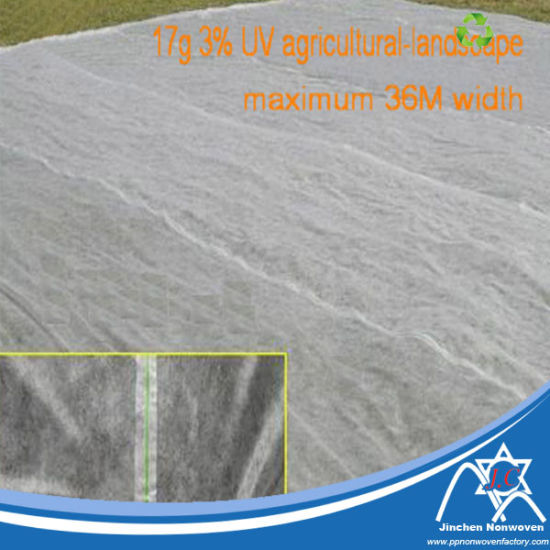 PP Spunbond Nonwoven Fabric for Over-Width Agriculture Cover Jc-041