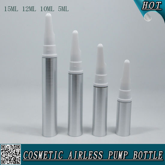 Silver Plastic Cosmetic Airless Eye Cream Spray Bottle Eye Cream Tube pictures & photos