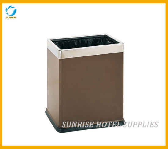 Guestroom Open Top Waste Bin with Double Layer pictures & photos