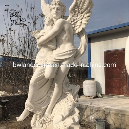 Factory Stone Carving Famous Love Couple Angel Statue Sculpture Price Mfsg-07