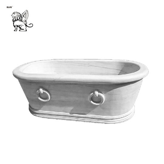 Marble Freestanding Round Bathtub Mbbg-06
