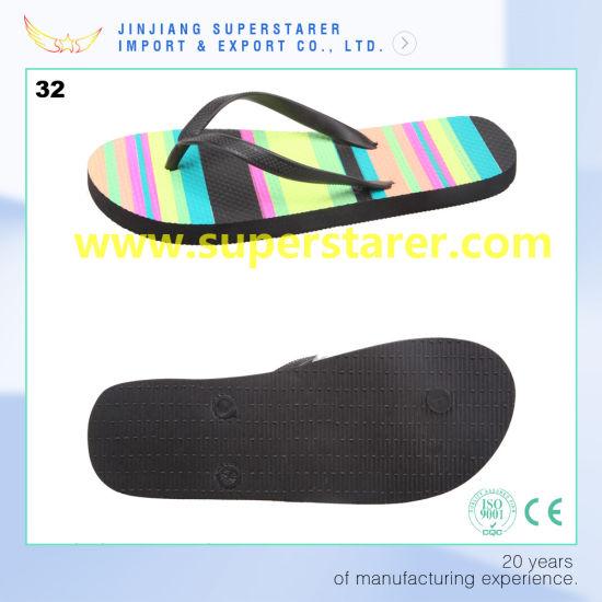 f5e4769e79f3 China Funky PE Rainbow Color Flip Flops Slipper Shoes - China Shoes ...