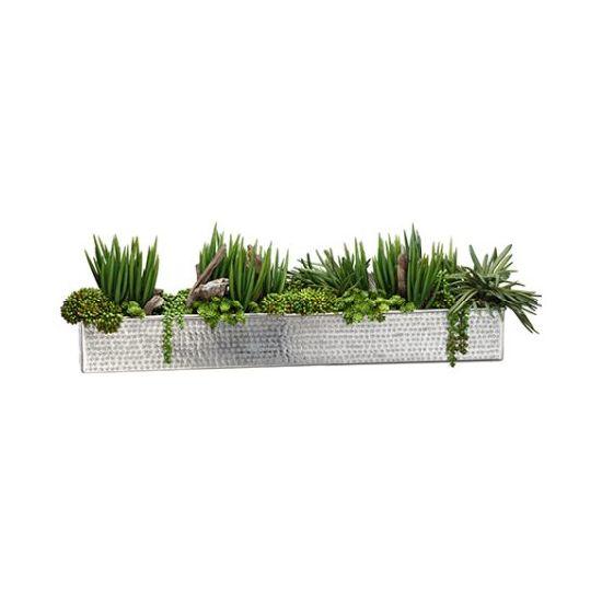 Aluminum Rectangle Flower Pot/Cubic Planter Box for Garden Decoration