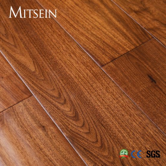 Handscraped Walnut Three Layer Engineered Wood Flooring with High Quality/ UV-Lacquered