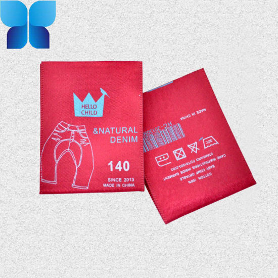Non Woven Fabrics Offset Printed Label for Garment Accessories