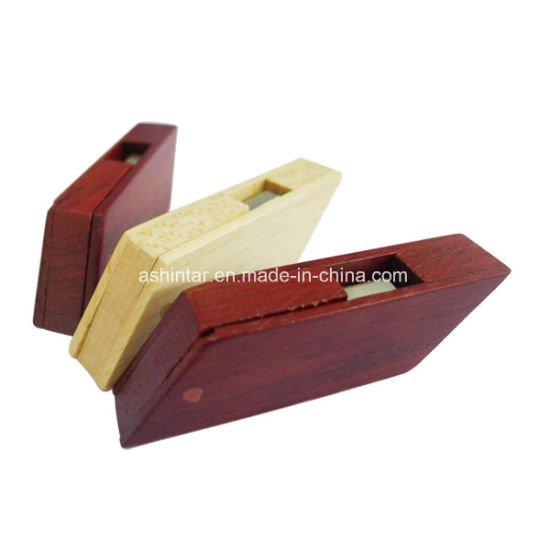 Wood USB Flash Drive Memory Stick Swivel USB Flash Disk pictures & photos