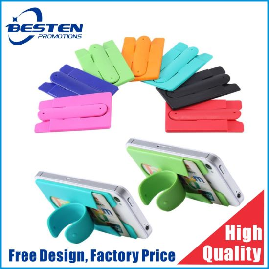 3m Sticker Promotional Silicone Mobile Phone Card Holder