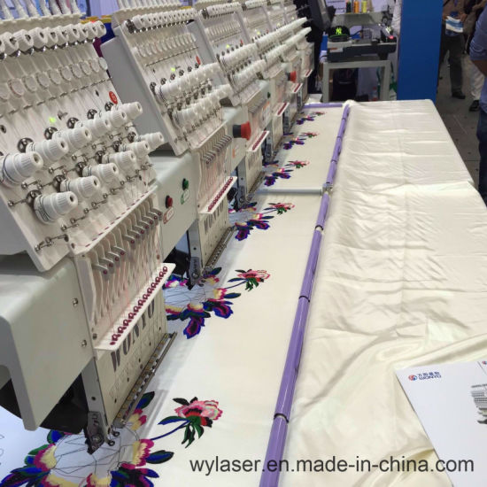 Machine Embroidery Designs of Saree Blouse Neck 6 Head Embroidery Machines