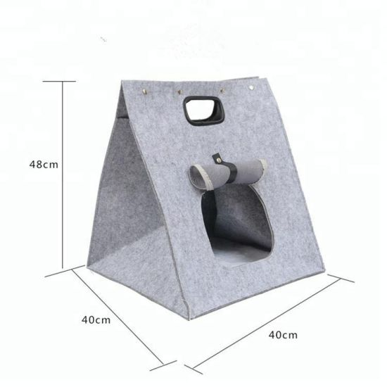 Factory Wholesale Multifunctional Foldable Felt Pet Bed Bag Dog and Cat Carrier Bag pictures & photos
