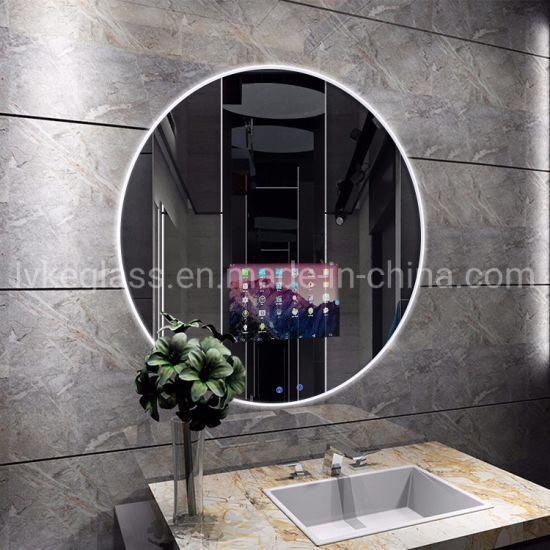 China Nordic Bathroom Mirror Hotel Bathroom Round Mirror Simple Modern Wall Mirror China Led Mirror Wall Mirrors