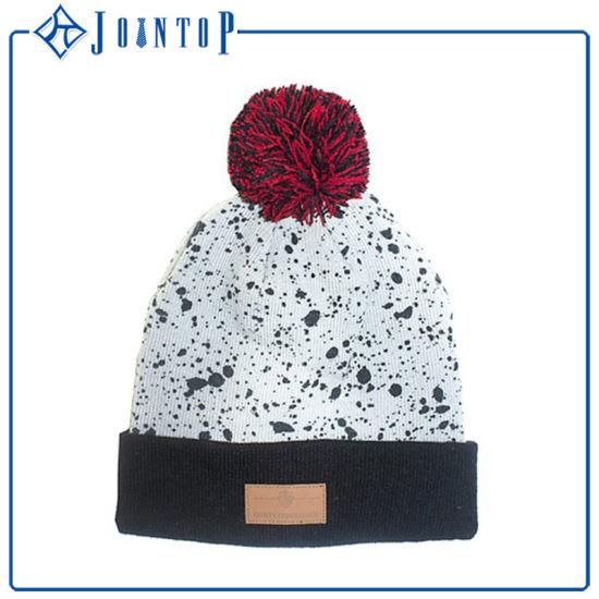 b35e92bca4cfe China Wholesale Custom Embroidery Logo Pompom Beanie Hat - China ...