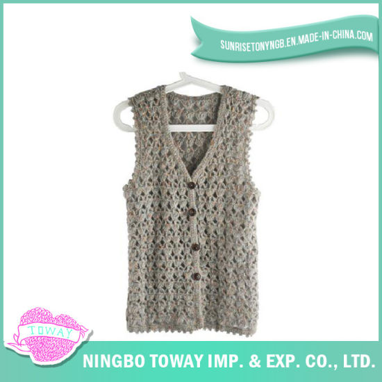 Hand Fashion Weaving Tops Ladies Crochet Knitting Vest-08