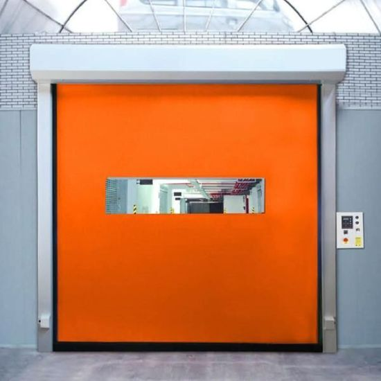 China Interior Fire Rated Clean Room Fast Roller Shutter Door For