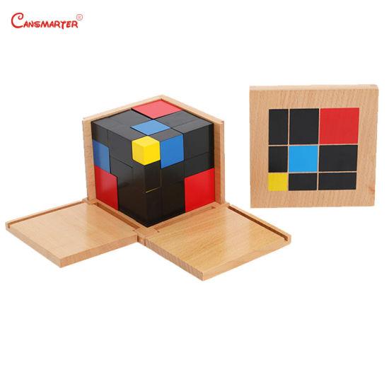 Trinomial Cube Montessori Kids Wooden Educational Children Toys