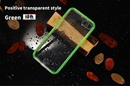New Ultra Thin Waterproof Colored Transparent Protection Cell Phone Case pictures & photos