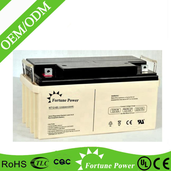 Rechargeable 12V 65ah Solar Gel Battery for UPS, Alarm