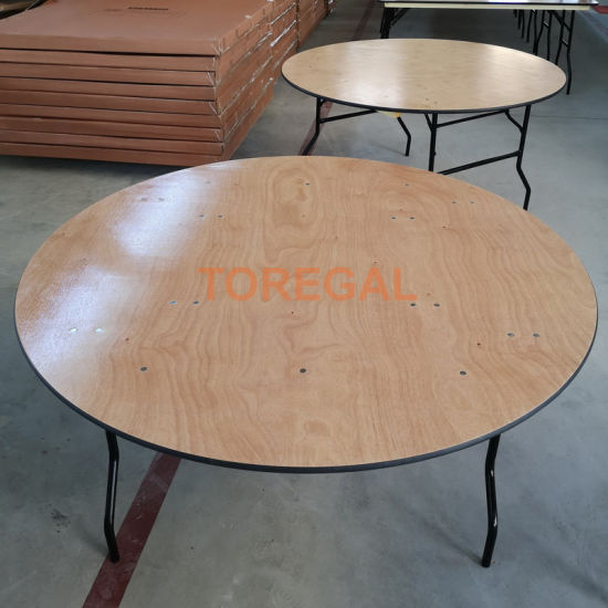 Wholesale Outdoor Banquet Plywood Folding Dining Table Furniture