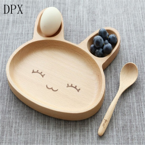 Kitchenare Tool Tableware Plate High Grade Creative Cute Rabbit Design Wood Trays for Kids pictures & photos
