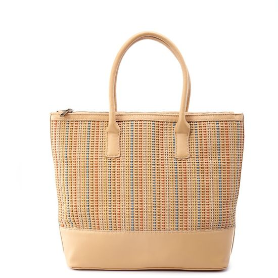 European Knitted Contrast Color Large Retro Women Handbag pictures & photos