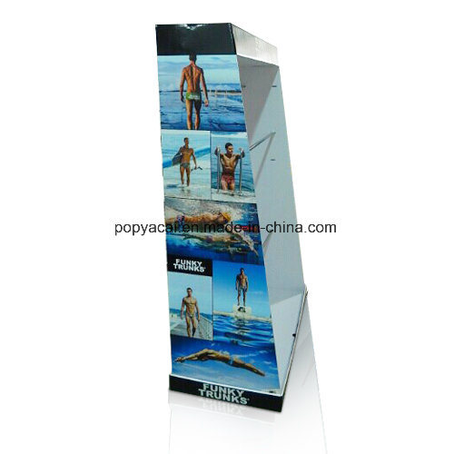 Store Cardboard Counter POS Floor Display Stand Rack Unit for Au pictures & photos