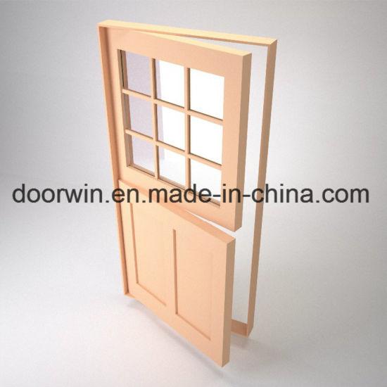Good Daylighting Transmittance Exterior Wood Front Doors White Color Dutch  Door