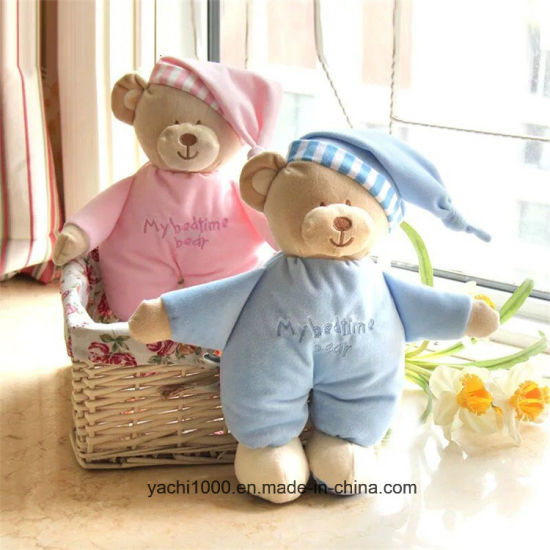 Custom Appease Baby Toy Set Sleeping Bears Plush Baby Soft Toy