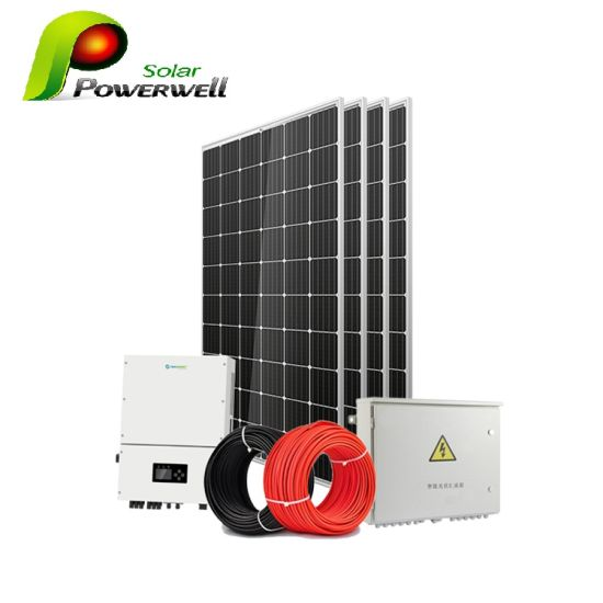 5kw Home Use on Grid Solar PV Panel Energy Power System pictures & photos