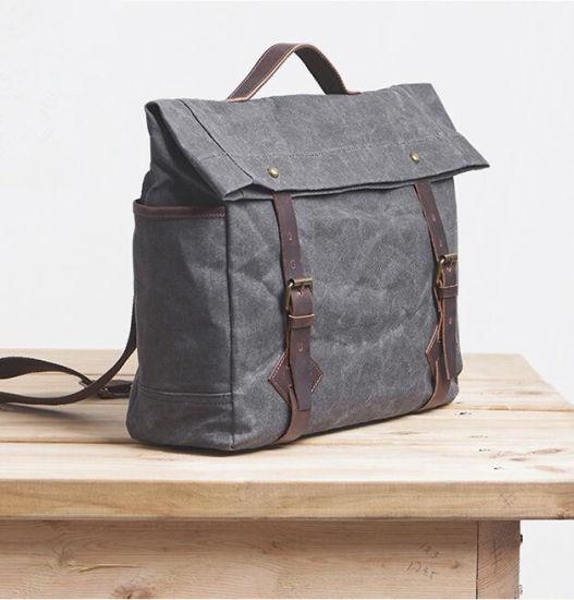 fe1ccbcaf1fd China Designer Lady Handbag Canvas Leather Backpack Women Bag ...