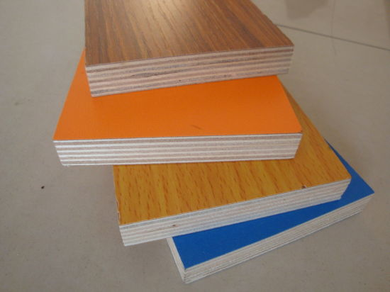 Colorful Melamine Paper Faced Eco Friendly Laminated Commercial Plywood pictures & photos