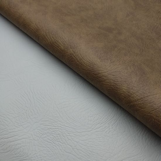 Embossed Artificial Faux Synthetic PU Leather for Sofa/Furniture-Vicky pictures & photos