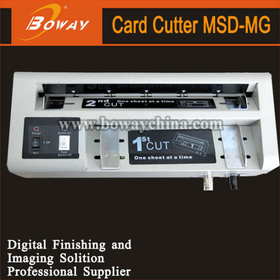 Boway 30PCS/Min A4 Namecard Desktop Small Electric Business Name Card Cutter pictures & photos