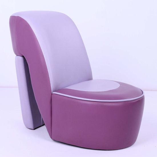 Lovely High Heel Kids Upholstered Toddler Chair Purple (SF 56)